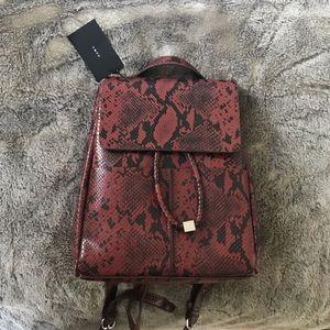 Zara Snakeskin Backpack NEW W/ TAGS